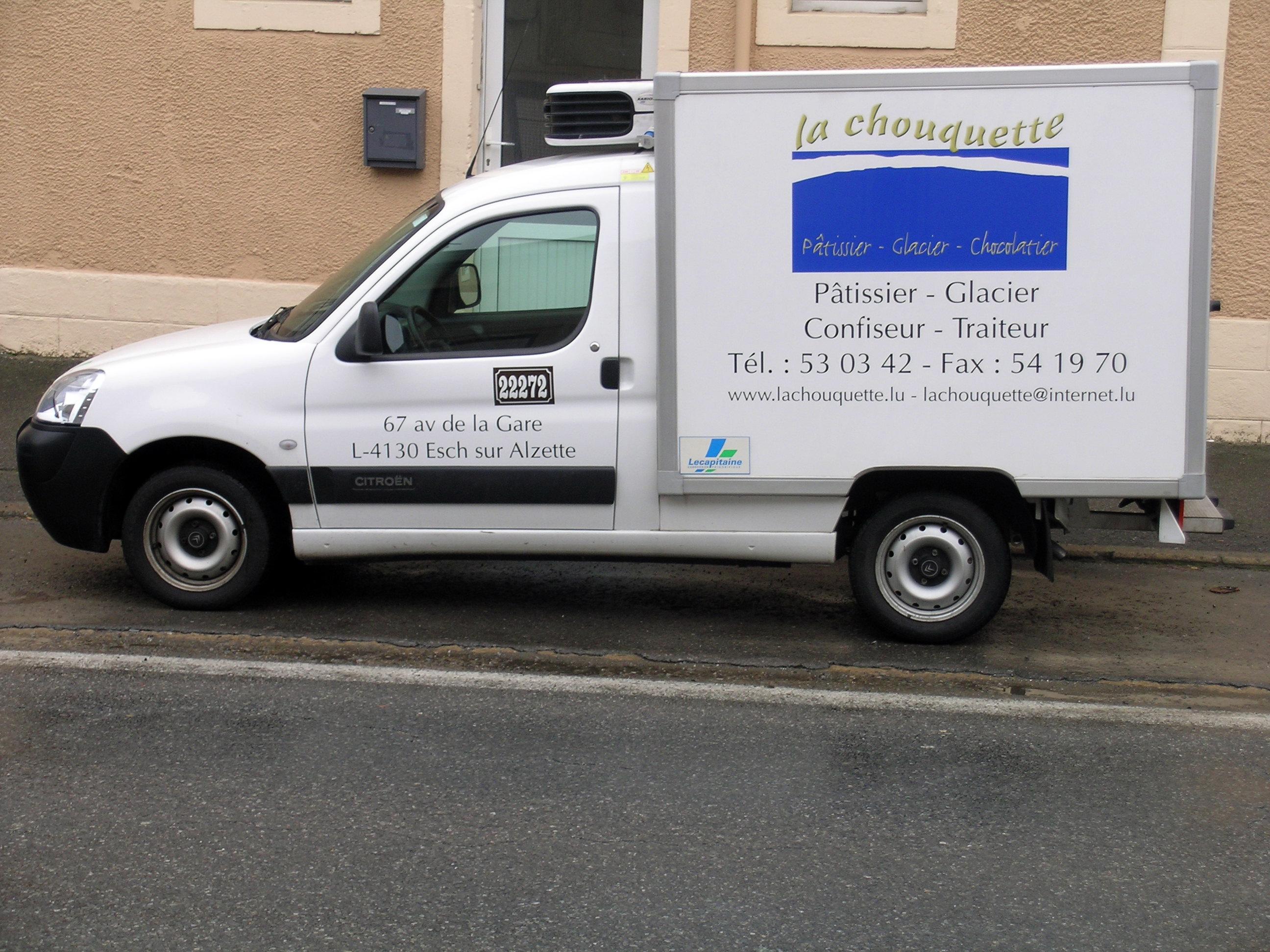 Marquage camionnette frigo